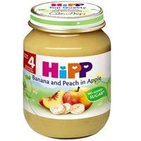 Dinh dưỡng đóng lọ HiPP chuối, đào, táo 125g 4m+