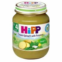 Dinh dưỡng đóng lọ HiPP rau chân vịt, khoai tây, sữa 125g 4M+