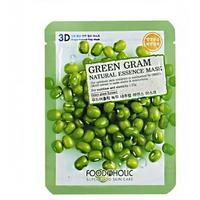 Mặt Nạ Nuôi Dưỡng Da 3D Foodaholic Green Gram Natural Essence Mask 23ml