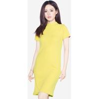 Đầm Len Ngắn Tay Cổ Tròn Xẻ Bên Hông SoYoung DRESS 0061