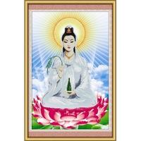 Tranh thêu chữ thập Phật