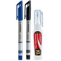 Bút Kỹ Thuật Stabilo Sensor + Bút Xoá Correction Pen CPS88 (Bộ)