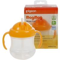 Bình tập uống Pigeon Mag Mag 200ml 8m+ có ống hút