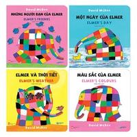 Combo Sách Song Ngữ Elmer's Board Book (4 Cuốn)