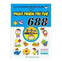 Bộ Sách Rèn Luyện Trí Thông Minh - 688 Câu Đố Phát Triển Trí Tuệ 2 - 3 Tuổi (Cấp Độ 1-5 Sao)