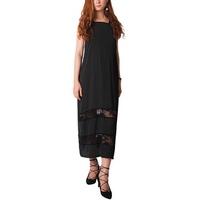 Đầm Maxi Yếm Satin Phối Ren Carita BW0017