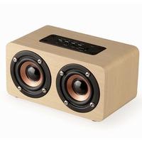 Loa Bluetooth bằng gỗ 2 Bass