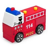 Đồ chơi gỗ WinwinToys 61292 - Lắp ráp xe cứu hỏa