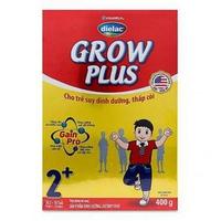 Sữa Dielac Grow Plus 2+ 400g từ 2 - 10 tuổi cho trẻ suy dinh dưỡng, thấp còi