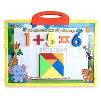 Bảng nam châm Antona - BÉ làm quen với chữ số và hình học