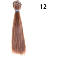 15cm Length Natrual Color Thick Bjd Wigs Doll Hair NO 12 - intl