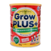 Sữa NutiFood Grow Plus+ 900g trên 1 tuổi cho trẻ thấp còi