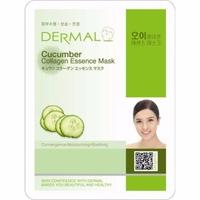 Mặt nạ dưỡng da tinh chất dưa leo và collagen Dermal Cucumber Collagen Essence Mask 23g