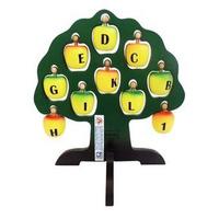 Đồ Chơi Gỗ EDUGAMES GA543 Cây Táo Học Chữ Và Số