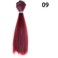 15cm Length Natrual Color Thick Bjd Wigs Doll Hair NO 9 - intl