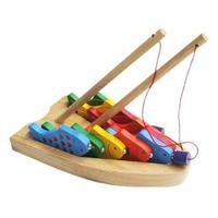 Đồ chơi gỗ Winwintoys 60362 - Bộ câu 10 cá số