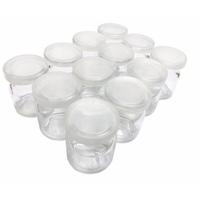 Hũ Thủy Tinh Làm Sữa Chua Nắp Nhựa