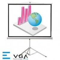 Màn chiếu chân E-VGA T96G (2m44 x 2m44)