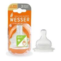 Núm Ty Wesser Cổ rộng size + , kèm Ống hút (0 - 3 Tháng)