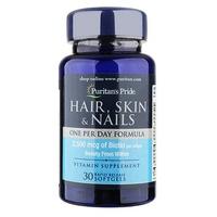 Viên uống bổ tóc, da, móng Puritan's Pride Hair Skin Nails One Per Day Formula