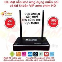 Android tivi box RAM 2G ROM 16G cụm anten kép Y9 plus bảo hành 12 tháng