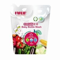 Nước rửa bình sữa Farlin 700ml (dạng túi)