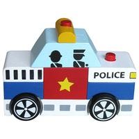 Đồ chơi gỗ WinwinToys 60292 - Lắp ráp xe cảnh sát