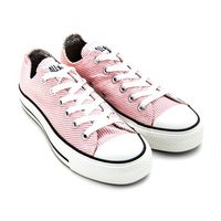 Giày Nữ Converse Chuck Taylor AS Ox Striped Pink White Trainers 530175C