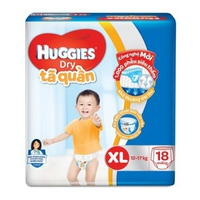 TÃ QUẦN HUGGIES XL18 (12-17KG)
