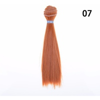 15cm Length Natrual Color Thick Bjd Wigs Doll Hair NO 7 - intl