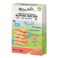 Bánh ăn dặm Fleur Alpine Organic Prebiotic 150g (Trên 6 tháng)
