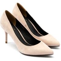 Giày Cao Gót Mũi Nhọn Gót Viền Vàng Sulily G06-IV16