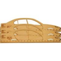 Thước gỗ xe ô tô 200mm