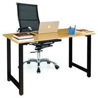 Bộ bàn Oak-T chân đen và ghế IB16A đen IBIE 120 x 60 x 75 cm