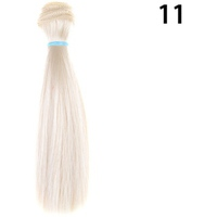 15cm Length Natrual Color Thick Bjd Wigs Doll Hair NO 11 - intl