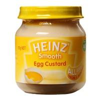 Dinh dưỡng đóng lọ Heinz trứng sữa, vani 110g 6m+