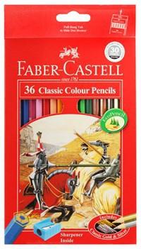 Bút Chì Màu Khô Faber Castell 36 Màu (Hộp Giấy) Cao Cấp Xuất Xứ Đức