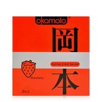 Bao cao su Okamoto Skinless Skin Strawberry