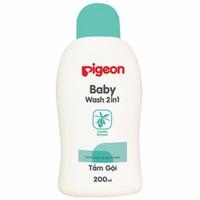 Sữa tắm gội Pigeon jojoba 200ml - xanh