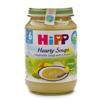 Dinh dưỡng đóng lọ HiPP súp thịt bê, rau tổng hợp 190g 6m+