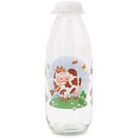 Chai Đựng Sữa Tươi Thủy Tinh Herevin 1L 111708 Trắng