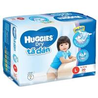 Tã Dán Huggies Dry L20 (8-13kg)