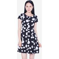 Đầm Xòe Họa Tiết Tay Ngắn The One Fashion DDC1353