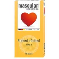Bao Cao Su Masculan Das Kondom Ribbed + Dotted