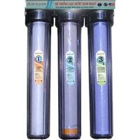Bộ lọc nước sinh hoạt 3 cấp 20inch