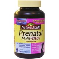 Vitamin tự nhiên cho mẹ bầu Nature Made Prenatal Multi + DHA