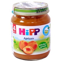 Dinh dưỡng đóng lọ HiPP mơ tây 125g 4m+