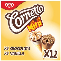 Kem Cornetto Chocolate Vani