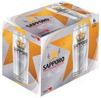 Thùng 6 Lon Bia Sapporo 650ML