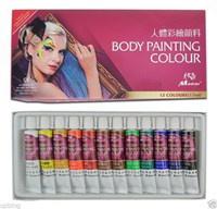 Màu Vẽ Trang Điểm Cơ Thể Body Painting Colour Madisi 12 Tuýp 12ml